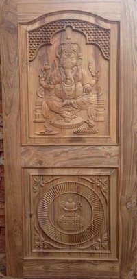Ganesh Design Wood Door