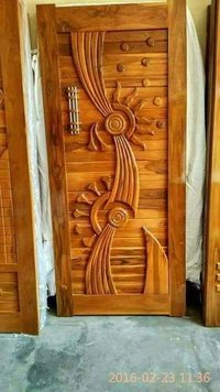 Encraved Wooden Door