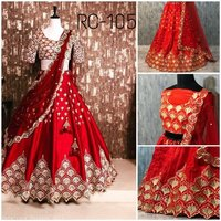 Designer Red Colour Wedding Lehenga