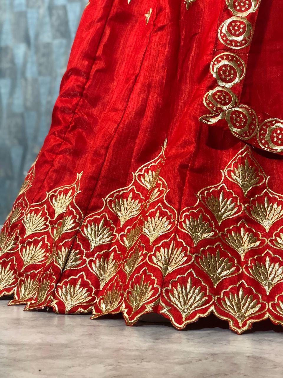 Designer Red Colour Wedding Lehenga