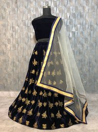 Party Wear Embroidered Lehengas