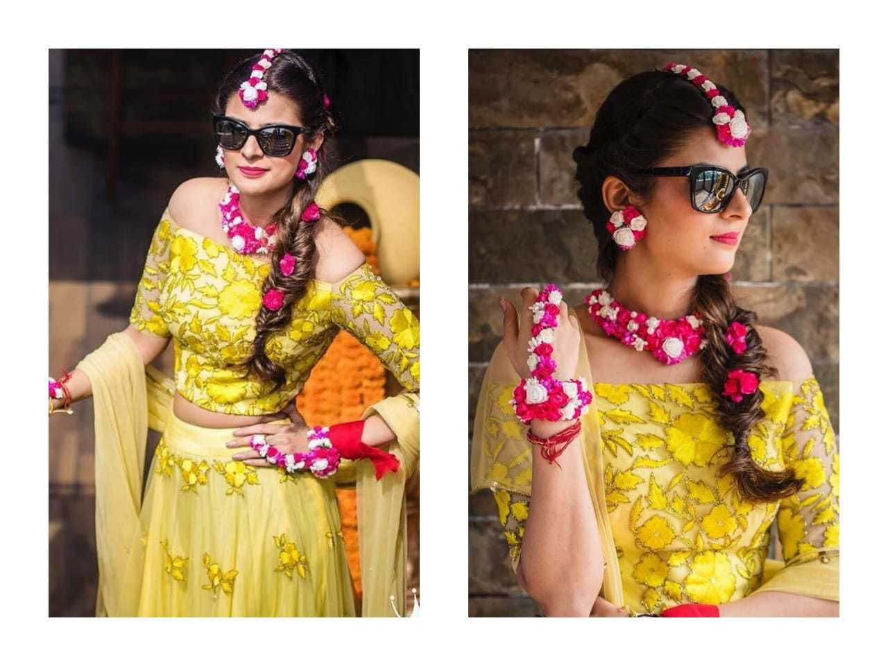 Party Wear Yellow Colour Embroidered Lehenga
