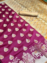Soft Banarasi Silk Saree With weaving work (DNHSILK13)