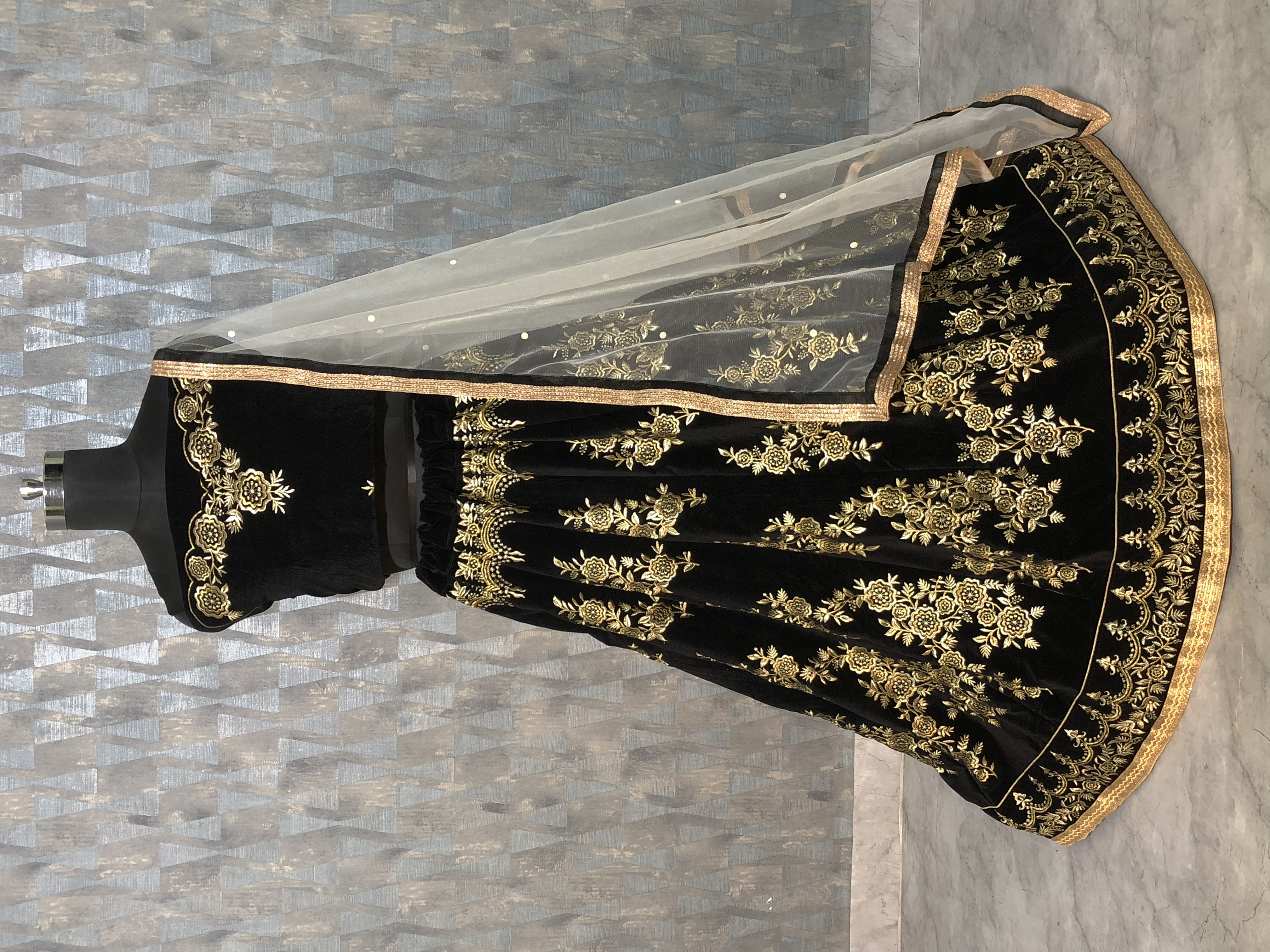 Party Wear Embroidered Lehenga Choli For Girls
