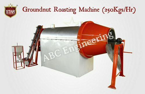 MS Groundnut Roasting Machine Plant