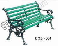 Antique Cast Iron Garden Bench