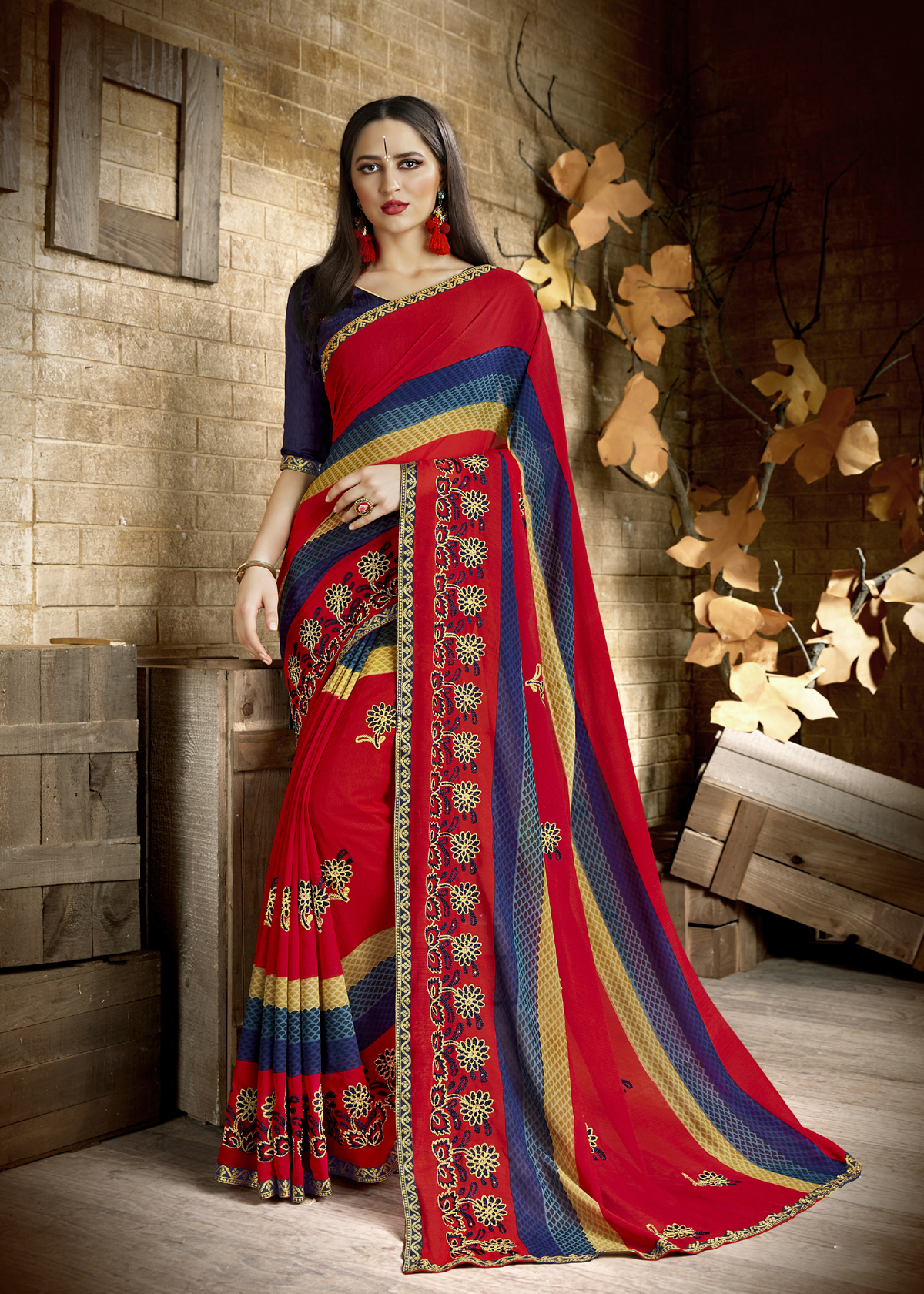 Traditional Georgette Saree