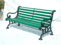 Handcrafted Cast Iron Garden Bench