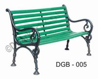 Jodhpuri Cast Iron Garden Bench