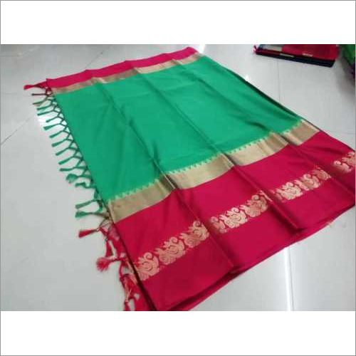 Cotton Silk Saree with Jacquard Work