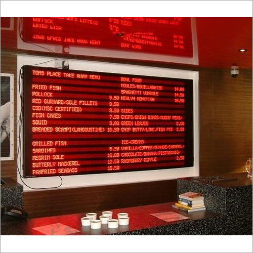 LED Menu Sign Board