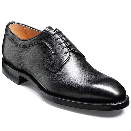 Formal Pointed Black Color Leather Shoes