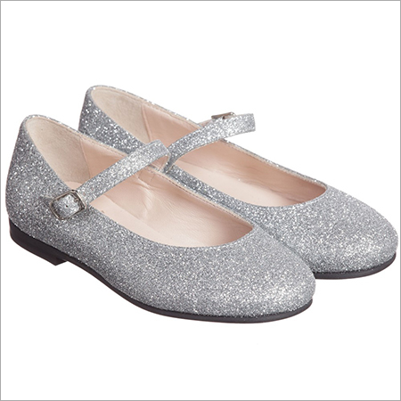 Gufo Girls Silver Glittery Shoes