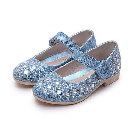 Ladies Blue Color Belly Shoes