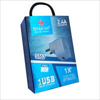 2.4 A USB Adapter with high speed  charging cable