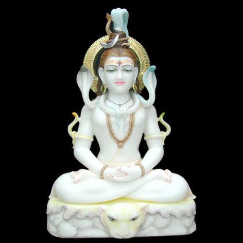 White Marble God Shiva Moorti