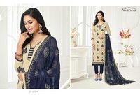 Cotton Materials Chiffon Dupatta Suit