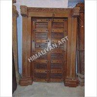 carved TEAK Wood DOOR