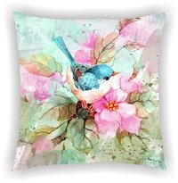 Digital Printed Floral Multi Leaves Designs Cushion Cover