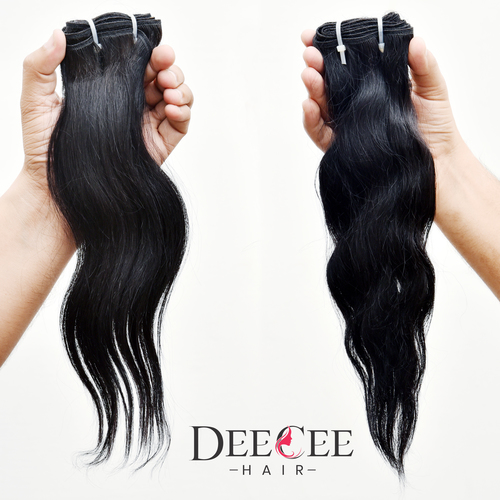 Double Drawn Indian Human Hair Curly Hairs