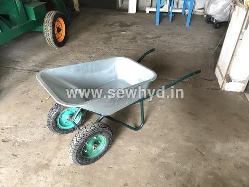 Multipurpose double wheel barrow