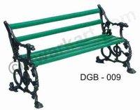 Contemporary Cast Iron Garden Bench