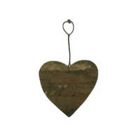Recycle Wooden Heart Ornament