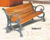 French Antique Cast Iron Garden Bench