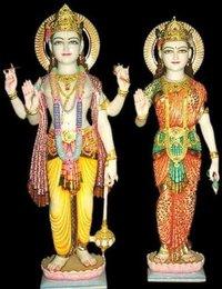 Marble Vishnu Laxmi Moorti