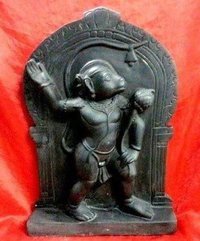 Marble Black Hanuman Statue