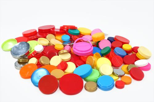 Colorful Plastic Jar Cap