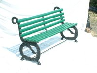 Nova Cast Iron Garden Bench