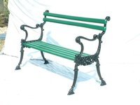 Hudson Cast Iron Garden Bench