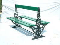 Ferris Double Sided Cast Iron Garden Bench