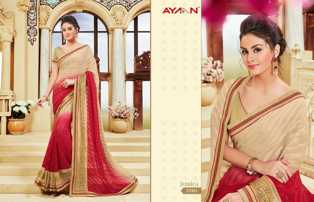 Double Shaded Georgette Sarees