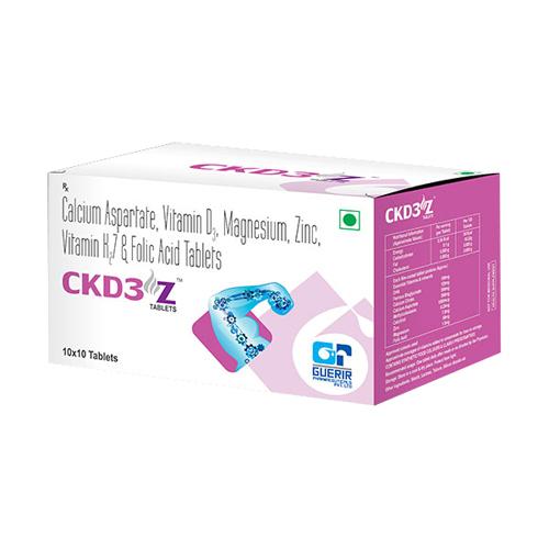 Calcium Aspartate Vitamin K2 7 Folic Acid Tablets