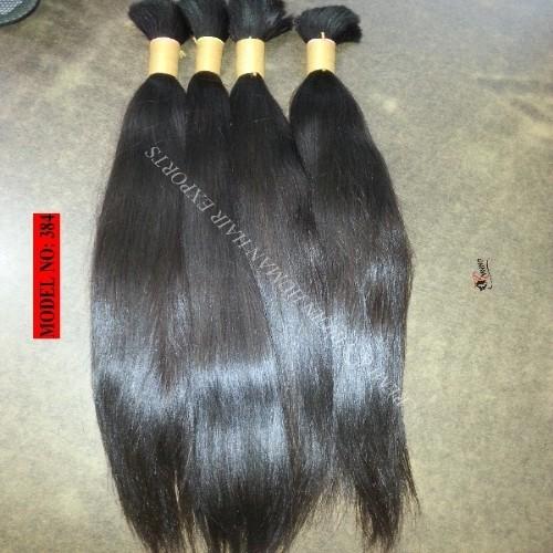 Virgin human hair bulk extension