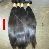 Virgin human hair bulk extension