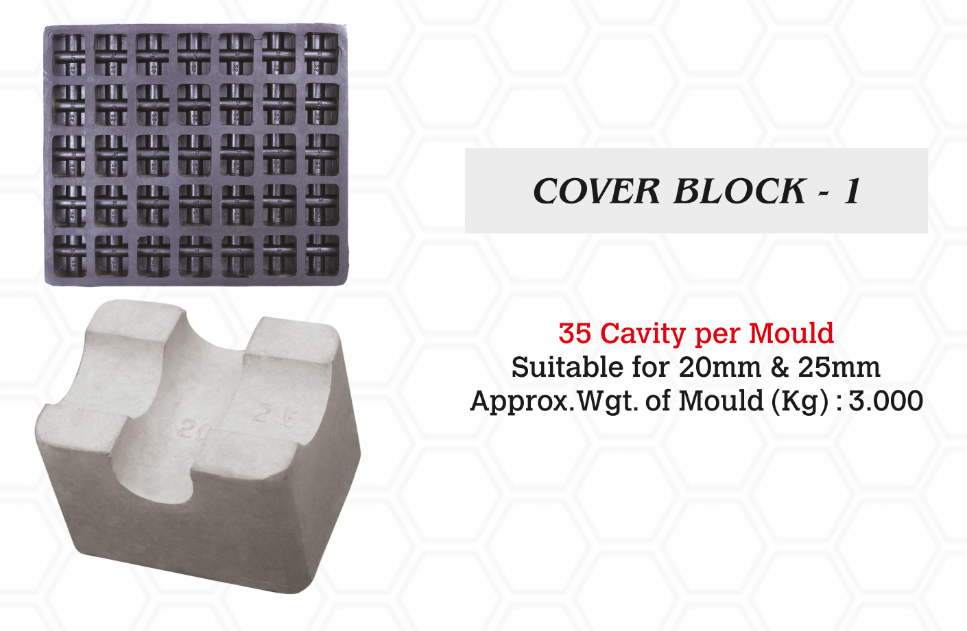 Cover Block Rubber Mould