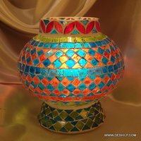 Mosaic Glass Table Lamp, Decorated Glass Table lamp