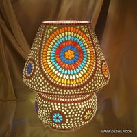 SPLENDID GLASS SHAPE MOSAIC TABLE LAMP