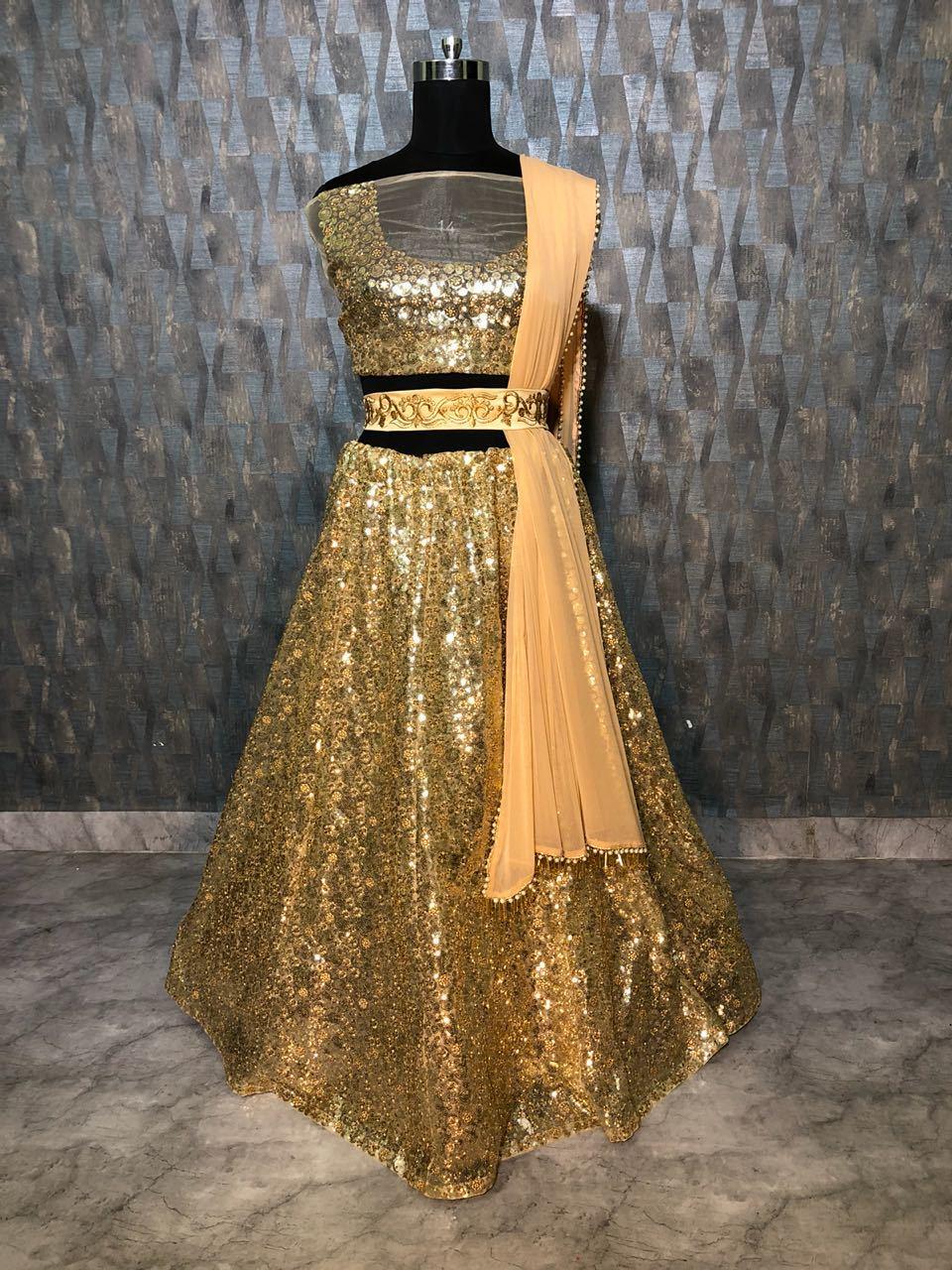 Designer Golder  Lehenga Choli