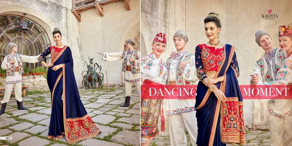 Stylish Fancy Work Silk Sarees