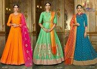 Pure Silk Designer Anarkali Suits