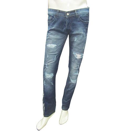 Mens Basic Damage Jeans