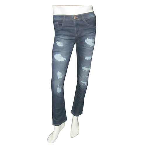 Men's Damage Short Length Jeans