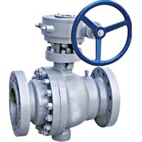 PTFE Lined Gear Operated Ball Valve