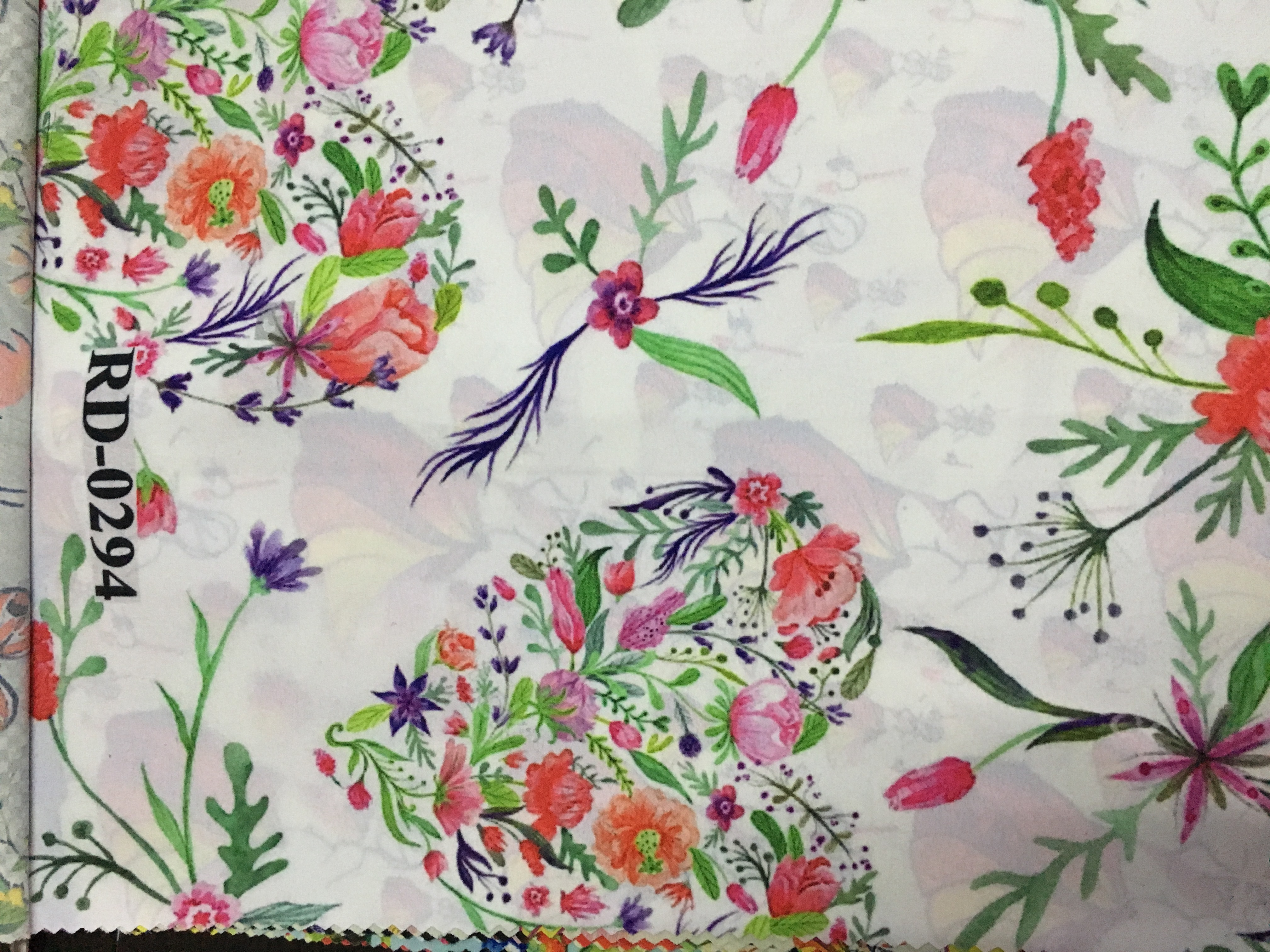 Digital Floral Print Fabric
