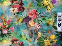 Digital Print Floral Design Fabric