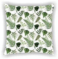 Digital Printed Floral Leaf Design  Cushion Cover